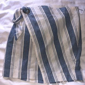 NWT free people linen striped skirt